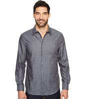 Perry Ellis - Long Sleeve Wave Printed Shirt