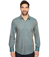 Perry Ellis - Long Sleeve Solid Jacquard Shirt