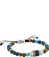 Steve Madden - Stainless Steel Tiger's Eye Bead Bracelet