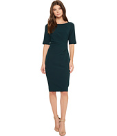 Adrianna Papell - Stretch Crepe Side Drape Sheath