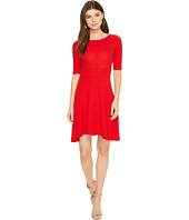 Three Dots - Brushed Sweater Fit & Flare Dress
