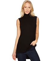 Three Dots - Viscose Rib Turtleneck Sleeveless Top