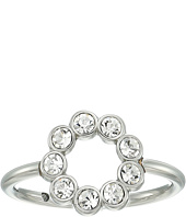 Fossil - Ring with Circle of Clear Crystal Glitz