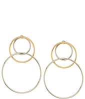 Steve Madden - Interlock Hoop Post Earrings