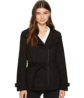 Kenneth Cole New York - Faux Suede Moto Trench