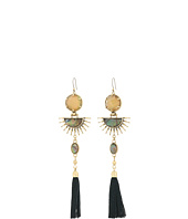 Lucky Brand - Statement Sunburst Fringe Earrings