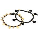 Set of 2 Tassel and Disc Bracelets