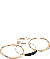 GUESS - Three-Piece Bracelet Set - Slider and Stretch Mixed
