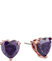 Betsey Johnson - CZ Hearts Earrings