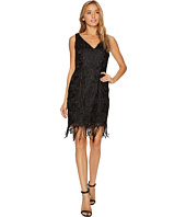 Adrianna Papell - Guipure Lace Cocktail Dress with Fringe Hem Line