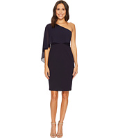 Vince Camuto - One-Shoulder Bodycon Dress w/ Chiffon Overlay