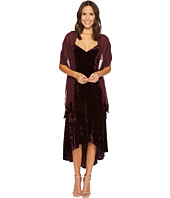 Vince Camuto - Pane Velvet V-Neck Midi Dress w/ High-Low Hem