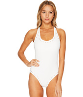 MICHAEL Michael Kors - Luxe Studs Cross-Back One-Piece Swimsuit w/ Studs & Removable Soft Cups