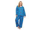 Plus Size Long Sleeve Classic Two-Piece Pajama Set
