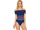 Ipanema Smocked Off Shoulder One-Piece Swimsuit