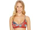 Softly Love Print Reversible Athletic Tri Bikini Top