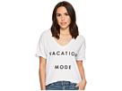 Vacation Mode Short Sleeve Slub V-Neck Tee