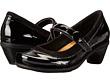 Black Crinkle Patent Leather/Black Velvet Nubuck
